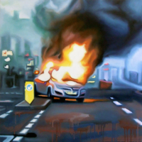 Burning Car III